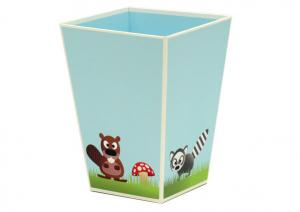 China Glossy lamination Corrugated Cardboard Furniture  Kids Dump Bin holders ENCF009 on sale