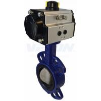 China Pneumatic Cylinder Operated Butterfly Valve?, Metal Seated Butterfly Valve  Air Flow Control on sale