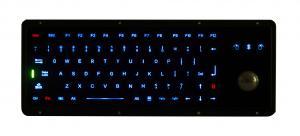 China Black Marine Usb Panel Mount Keyboard With Optical Trackball on sale