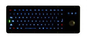 China IP67 Dynamic Water Proof Marine Black Metal Keyboard With Track Ball on sale