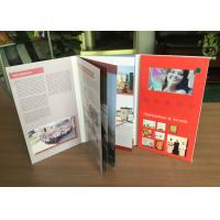 Artificial Style and Paper Material video booklet video book 4.3inch screen portrait stype business promotional card