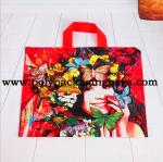 Multi - Color Printing Die Cut Handle Plastic Shopping Bag