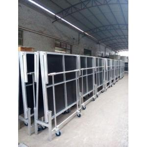 China 1.22*2.4M High 0.4-0.6 Or 0.6-1.0m Aluminum Folding Stage With Wheels on sale