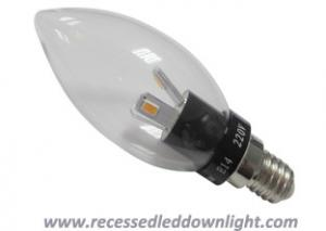 China E14 1W, 3W, 5W Balck Aluminum Flameless SMD Dimmable Led Candle Bulb With 360 Degree on sale