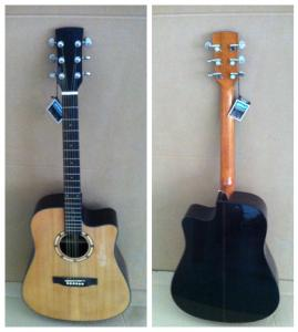 China 41inch OEM  High-end whole solidwood vintage cutaway electric acoustic guitar/western guitar steel string sale-TP-AG85 on sale