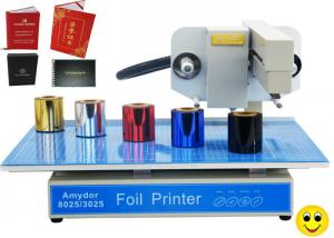China 150w AMD-3025 Digital Hot Foil Printer , Foiling Machine For Cards / Certificates on sale