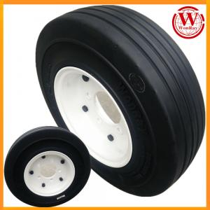 China airport ground support equipment 4.00-8 solid tire with twin-disk 5-studs rim assembly on sale