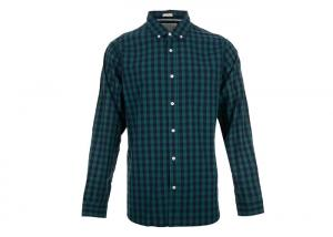 China Eco Friendly Mens Cotton T Shirts With Collar Cotton Plaid Pattern on sale