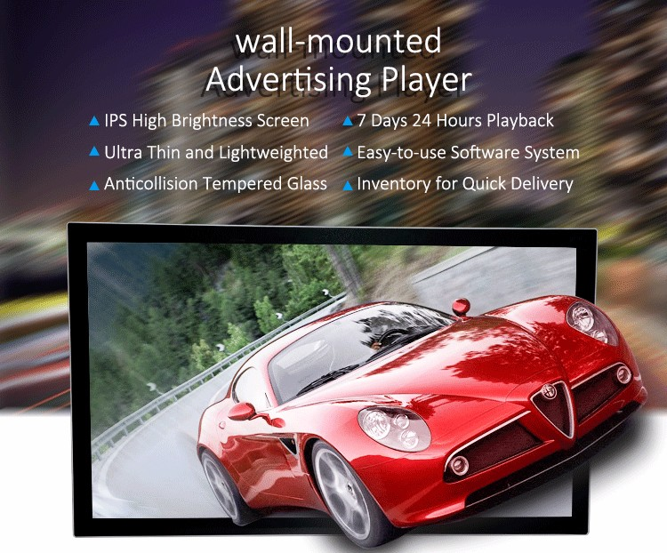 Best selling 32 inch wall mounted smart mirror tft advertising video media player