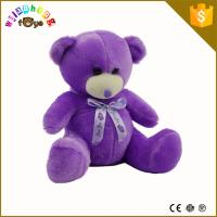 Custom plush toy, china plush toy animals,purple teddy bear plush toy