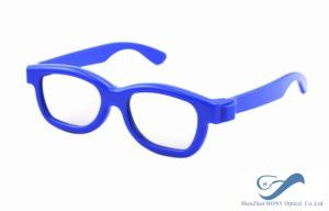 China Blue Frame Reald 3D Polarized Glasses Circular For Kids And Adult on sale