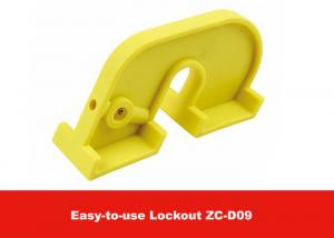 China ABS Yellow Big Large Circuit Breaker Lockout with Screw Driver on sale
