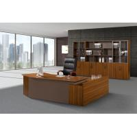 China MDF Panel Office Desk With Drawers , Office Furniture Executive Desk Oil Proof on sale