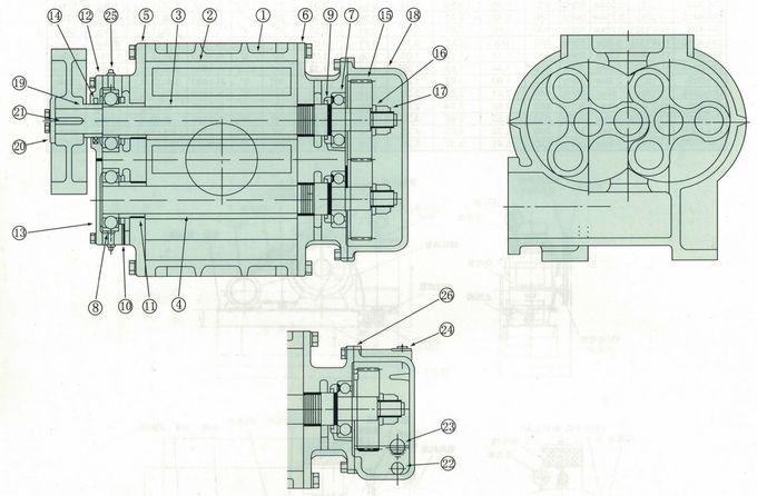 DSR50 0,78-1,22m3 / phút Máy thổi khí nuôi trồng thủy sản Rễ sục khí