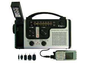 China Crank Radio with Flashlight (HT-998C) on sale