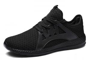 China Running Casual Athletic Shoes , Full Black Casual Shoes Net Surface on sale