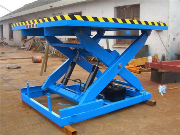 1000kg Stationary Scissor Lift Heavy duty design meet EN