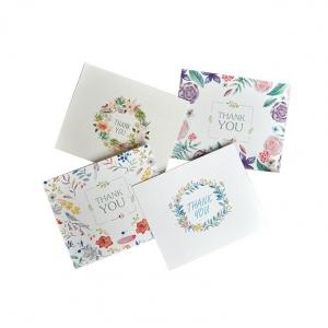 China Foldable Paper Greeting Card For Wedding / Birthday / Gift / Thank You Use on sale