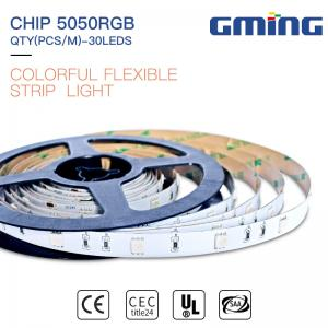 China Cuttable SMD 5050 Rgb Flexible Led Strip , Outdoor indoor 10mmLed Strip light IP20/65/67/68 on sale