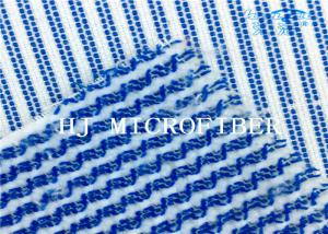 China Blue Mixed White Color  Microfiber Terry Fabric Hard Wire Cleaning Cloth Fabric on sale