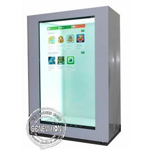 China 15 inch Portrait Transparent LCD Showcase USB Update with HDMI input on sale