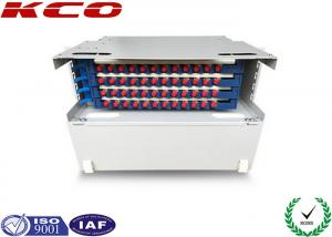 China SC FC ST Steel Fiber Optic Distribution Box Unit ODF Rack Mounting on sale