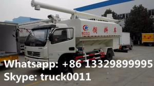 China Euro 4 120hp CLW5110ZSLD4 animal bulk feed delivery truck for sale, 10-14m3 farm-oriented livestock animal feed truck on sale