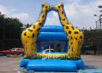 Little Kids Indoor Blue Mini Giraffe Inflatable Jumper For Party Game