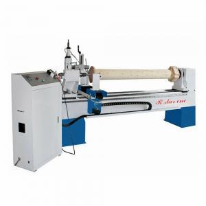 China 2500mm length large diameter wooden columns turning engraving machine on sale
