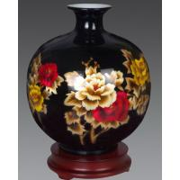 Wheat-Straw Ceramic Pomegranate Vase, handcraft, straw patchwork vase