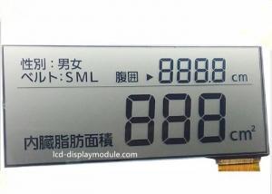 China 5.0V FPC Segment TN LCD Display , Intruments Meters Monochrome LCD Display on sale