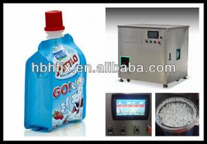 China cangzhou hongfa supply standing pouch with cap filling packing machine for flavor juice /milk on sale