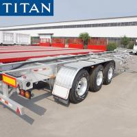 China 40ft Container Chassis Tri Axle Skeletal Trailer for Sale on sale