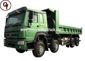 China 40 Ton Sand Tipper Truck , 371HP HOWO 8X4 12 Tires Heavy Duty Dump Truck on sale