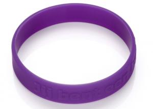 China Logo Embossed Letter Low Relief Church Custom Silicone Rubber Wristbands on sale