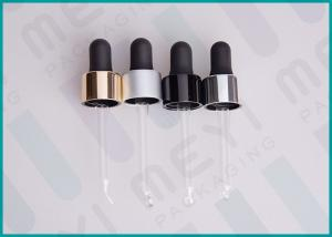 China 18/410 Glass Dropper Bottles Transparent Glass Pipette With Silicone Bulb on sale