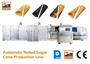 China CE Certified Automatic Sugar Cone Production Line With Fast Heating Up Oven , 63 Baking Plates Ice Cream Cone Productio on sale