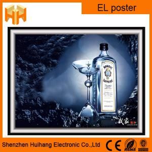 China EL advertising poster and EL display window with high quality on sale