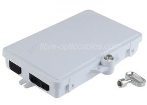 China 2 Core SC / LC Port Fiber Optic FTTH Distribution Box with ABS + PC Material on sale