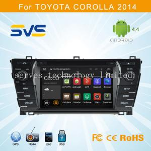 China Android 4.4 car dvd player GPS navigation for Toyota Corolla 2014 with gps usb sd swc wifi on sale