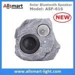 Solar Bluetooth Speaker Resin Stone loudspeaker Lamp PIR Motion Sensor Lighting for Outdoor Garden Patio Backyard Park
