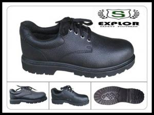 China mens pvc safety shoes steel toed work shoes for men miner shoes black on sale