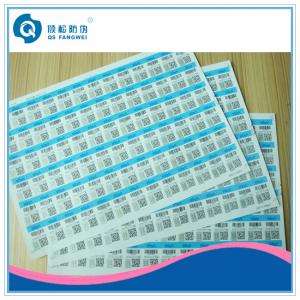 China Anti-Fake A4 Self Adhesive Labels , Silk Screen / Offset Printing Stickers on sale