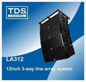 China Dual 12'' Neodymium Line Array (LA312) With 3-way Cabinet Box Speaker on sale