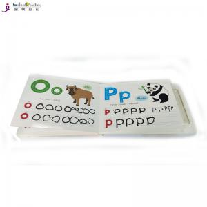 China Thick Card Children'S Board Book Printing ABC Custom Baby Board Book With Pen Holder on sale