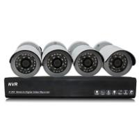 1.0 Megapixel IP Bullet wireless security camera systems NVR Kits