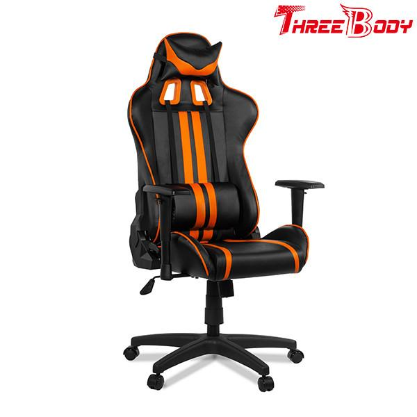 Modern Style Racing Seat Computer Chair , Office Leather Swivel Gaming Chair  Images