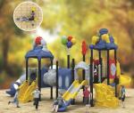 steel playground equipment children commercial playground slides for kindergarten