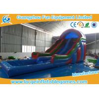 High Durability Water Inflatable Slides , Inflatable Bounce House Water Slide With Small Pool