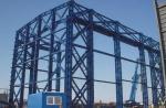 Estrutura de aço industrial pesada